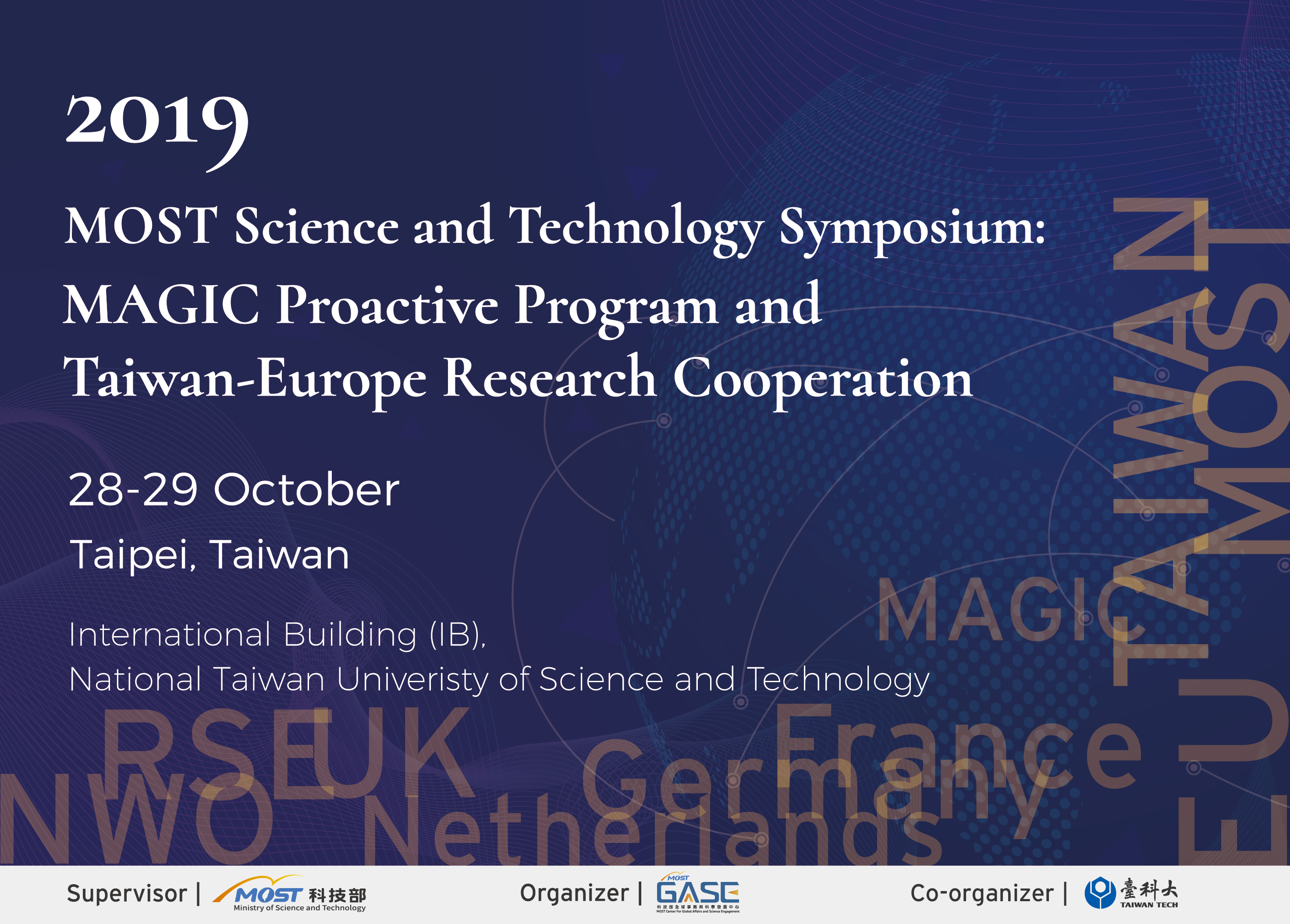 2019 MOST Science and Technology Symposium: MAGIC Proactive Program and Taiwan-Europe Research Cooperation