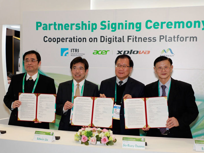 ITRI, Xplova, and Everest Textile Sign Cooperation Agreement on Digital Fitness Platform at CES 2020